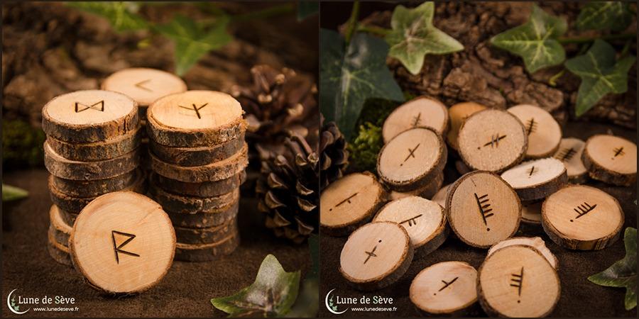 Runes et Oghams classiques en bois