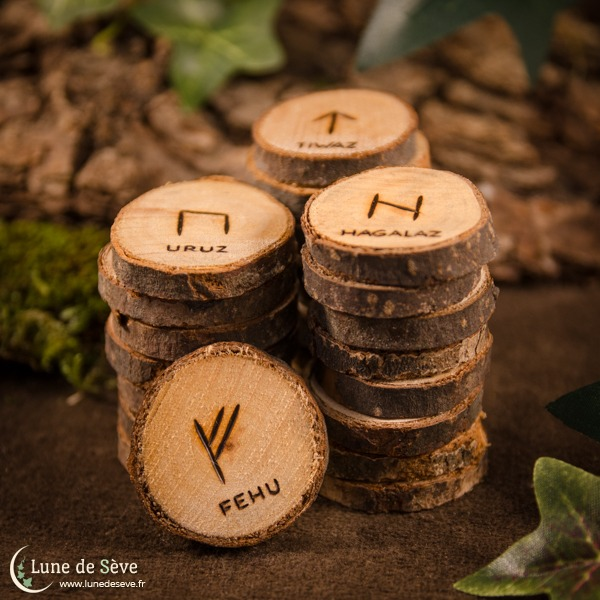 Runes learning handmade wooden set