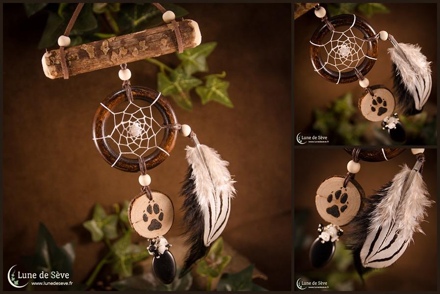 """Dreamcatcher talisman """"Protecteur de la Meute"""""""