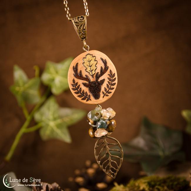 Wildwood wooden necklace