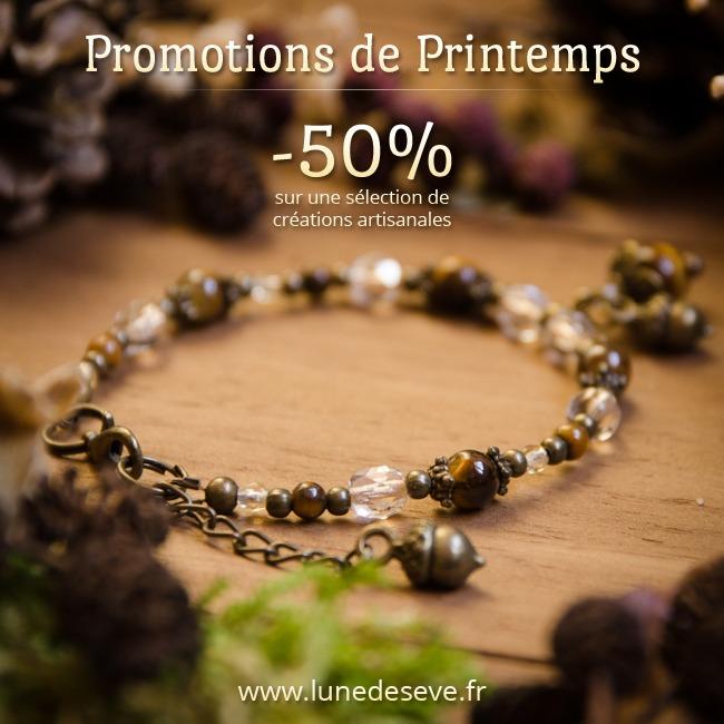 Promotions de Printemps ! -50% sur une sélection de créations artisanales