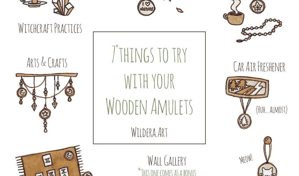 7 things to try with your Wooden Amulets