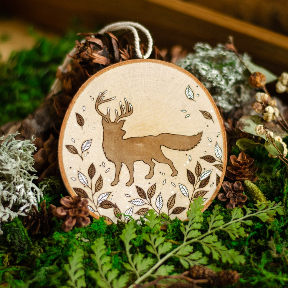 """Twig"" Deerfox Hanging Ornament"