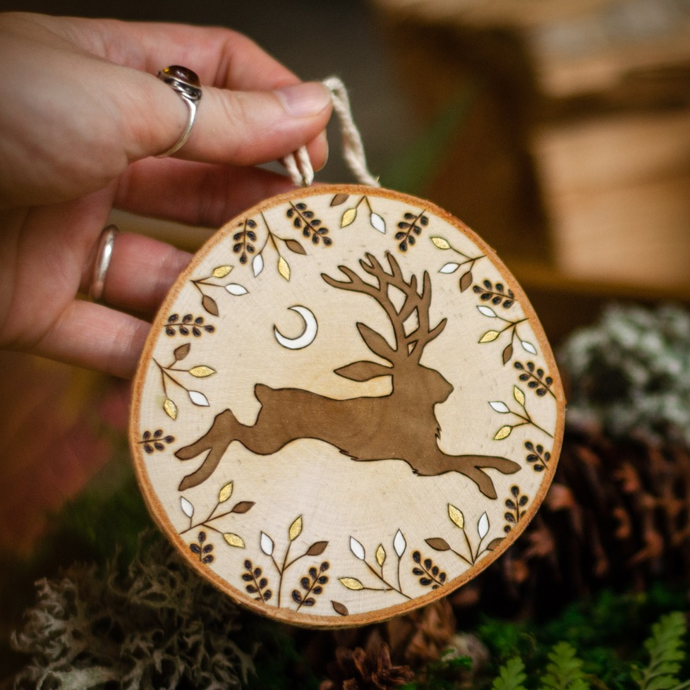 Jackalope Hanging Ornament