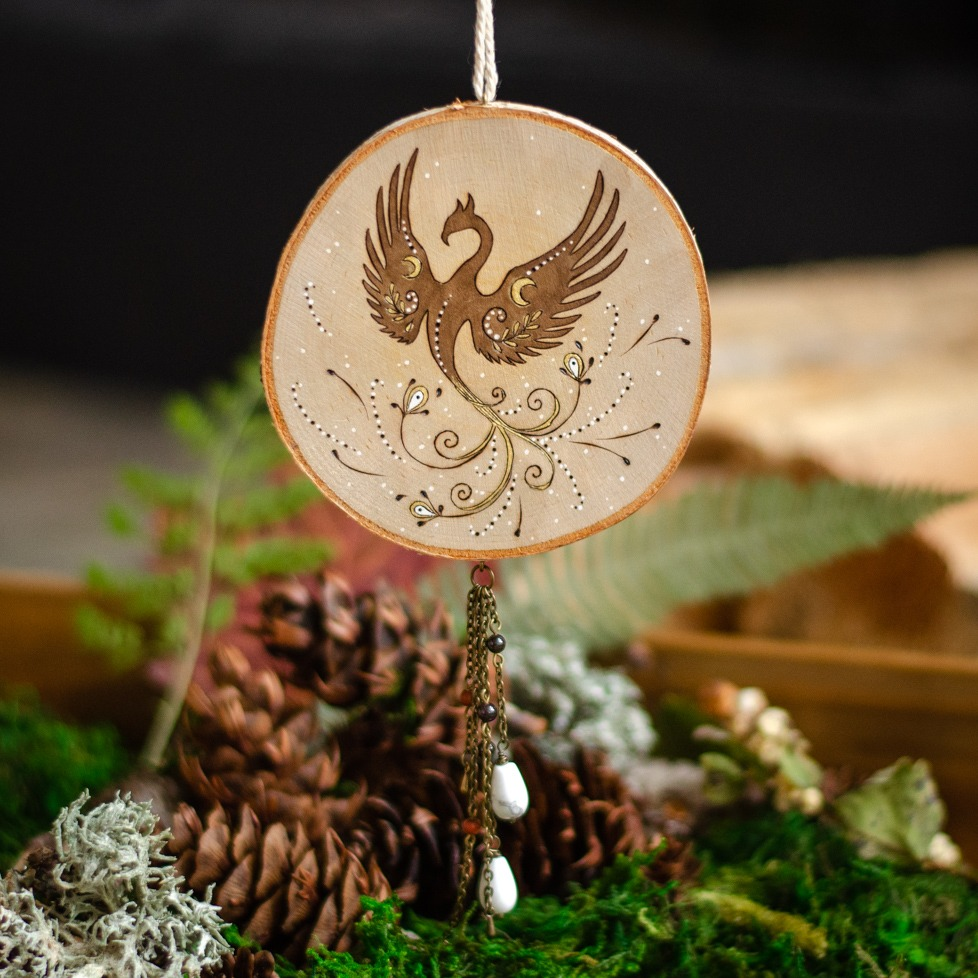 Phoenix Hanging Ornament