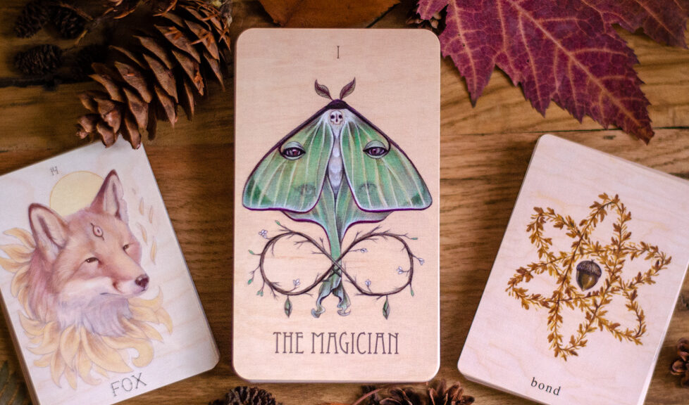 Wooden Tarot - Earthbound Oracle - Seeker's Lenormand - Indie Decks