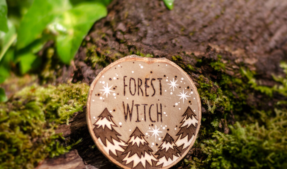 Forest Witch - Wooden Amulet