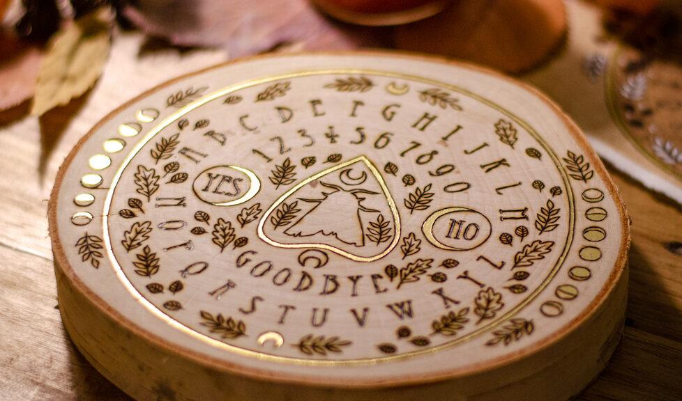 Ouija Board Woodburning