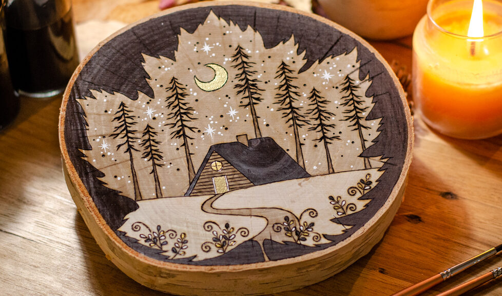 Home in the Forest - Wooden Ornament