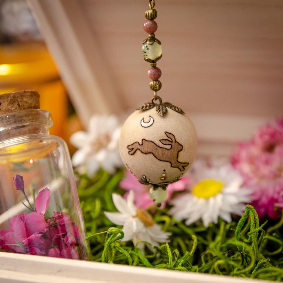 First Flower - Wooden Pendulum